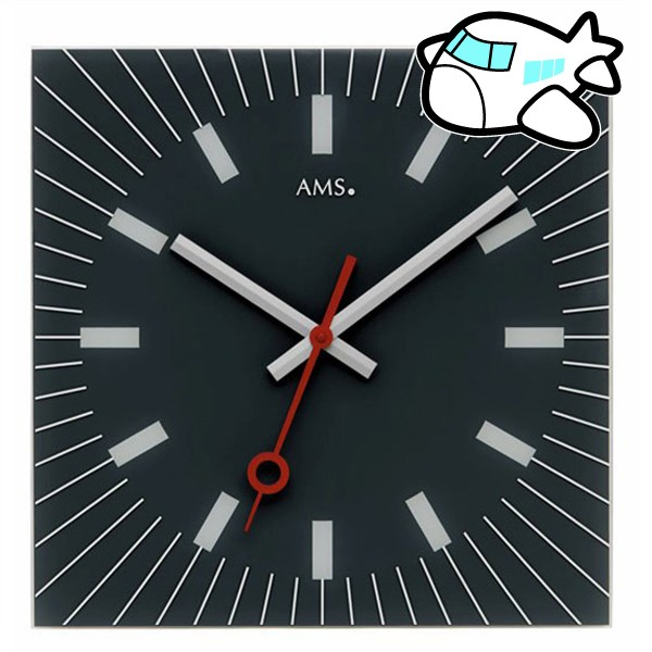 AMS 掛け時計 アナログ ドイツ製 AMS9575 納期1ヶ月程度 (YM-AMS9575)