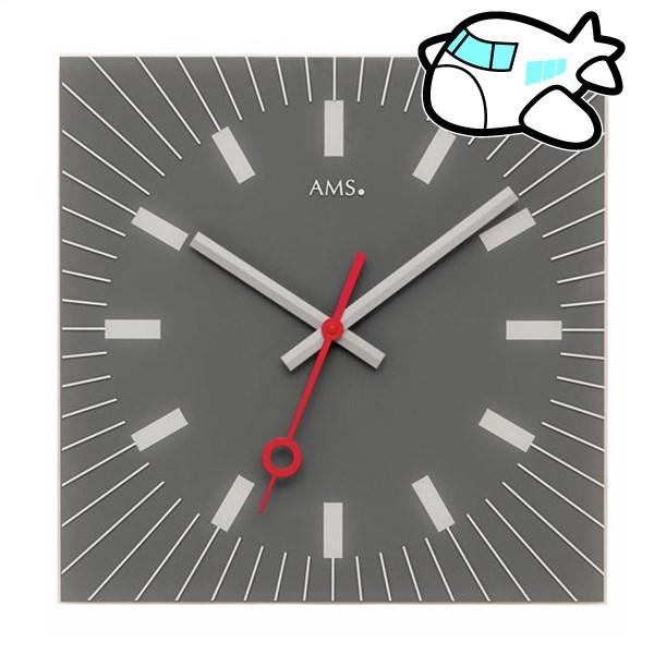 AMS 掛け時計 アナログ シルバー ドイツ製 AMS9577 納期1ヶ月程度 (YM-AMS9577)