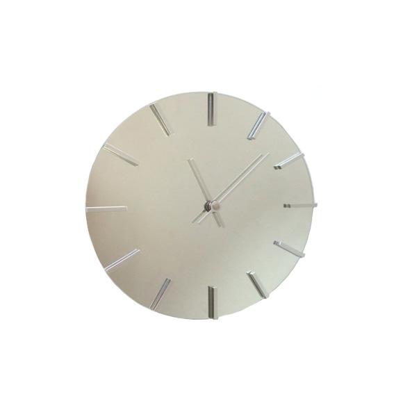 掛け時計 ミラー クール モダン おしゃれ アクトレスクロック メタル シャープ ステップムーブメント 日本製 (FO-V0057)