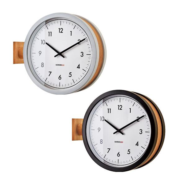 掛け時計 スイープ ダブルフェイス シンプル モダン デザイン インテリア マッカーティ (IF-CL3276) *ブラックBK次回3月末入荷予定