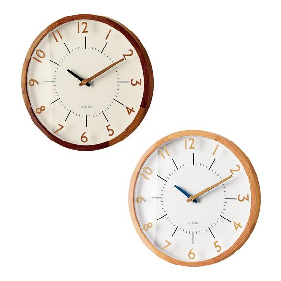 掛け時計 電波時計 シンプル モダン 木製 デザイン インテリア (IF-CL3350)*ブラウンBN次回8月中旬入荷予定・ナチュラルNAメーカー欠品