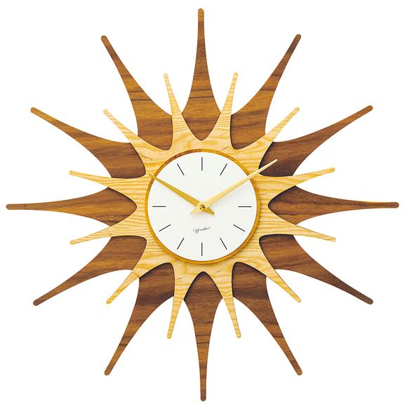 掛け時計 ミラベル レトロ クール おしゃれ 木製 大型 ハンドメイド 北欧 デザイン オブジェ インテリア リビング プレゼント ギフト (IF-CL3851)