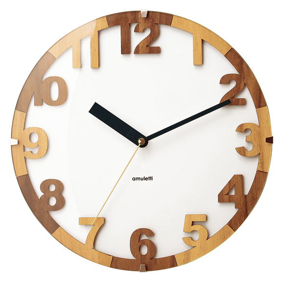 掛け時計 北欧 天然木 シンプル おしゃれ 木製 モダン ハドリー デザイン インテリア リビング プレゼント ギフト (IF-CL3854)