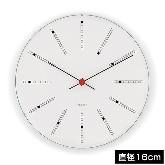 アルネヤコブセン 時計 バンカーズ 16cm Wall Clock BANKERS 160mm 43620 アルネ ヤコブセン クロック ウォールクロック 掛け時計 おしゃれ 北欧 壁掛け時計 壁掛け 壁 オシャレ な モダン シンプル *次回7月中旬入荷予定