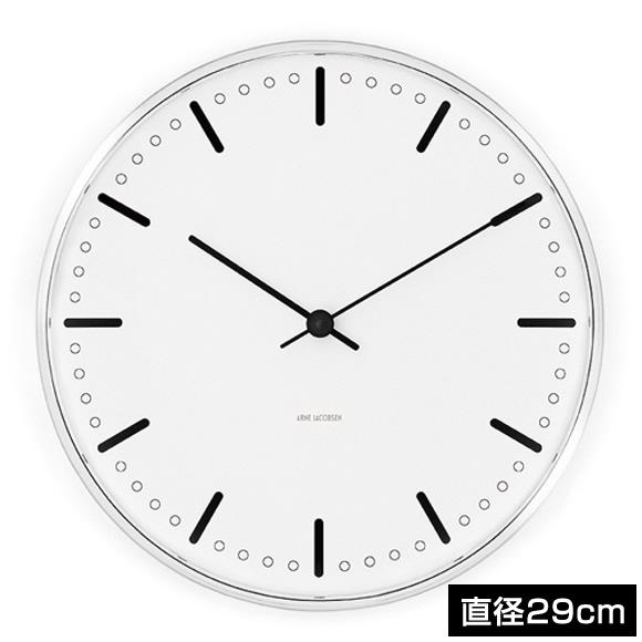 アルネヤコブセン 時計 シティホール 29cm Wall Clock CITYHALL 290mm 43641 アルネ ヤコブセン クロック ウォールクロック 掛け時計 おしゃれ 北欧 壁掛け時計 壁掛け 壁 オシャレ な モダン シンプル