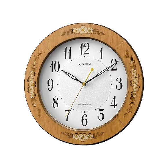 シチズン CITIZEN 掛け時計 アナログ 電波時計 象嵌 天然木 日本製 (8MY521SR06) 【 SALE在庫限り40%OFF 】