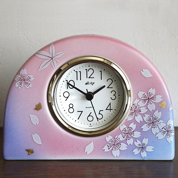 置時計 日本製 陶器 九谷焼 日本の名品 九谷焼 置き時計 40T-5 ギフト (SMT-69S-7)