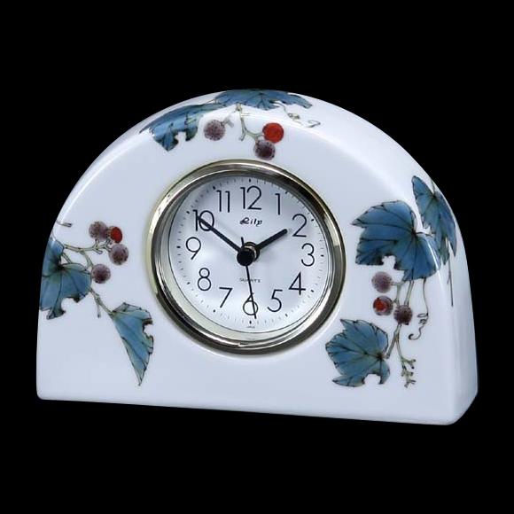 日本製 九谷焼 陶器 ギフト 置時計 九谷焼置き時計 71S-7 (SMT-71S-7)