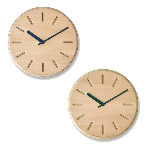 浮き上がる色模様の美しい天然合板の掛け時計 Lemnos レムノス 掛け時計 29cm 木製 ペーパーウッドクロック TL-DRL19-06 日本製 アウトレット ライン 100%品質保証 掛時計