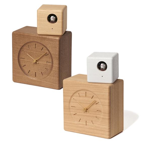 天然木 カッコー キュビスト Lemnos (TL-GTS19-04) 置き時計 からくり時計 はと時計 クロック レムノス カッコー時計  置時計 置き