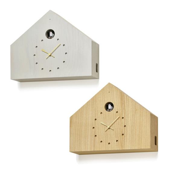 Lemnos タカタレムノス 掛け時計 鳩時計 カッコー 日本製 木製 お家 ナチュラル 誕生祝い シンプル 記念品 「ククロ フェリーチェ」 (TL-MAA18-01)