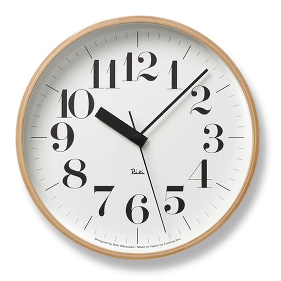 渡辺力デザイン RIKI CLOCK の電波時計 Lemnos レムノス 掛け時計 割引 電波時計 RIKI 掛時計 スイープムーブメント TL-WR20-02 爆安プライス 渡辺 力