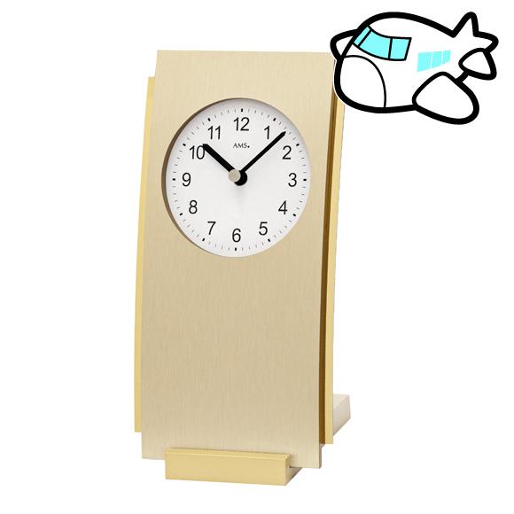 AMS ドイツ製 置き時計 モダン ゴールド リビング ギフ ト記念品 開院祝い 開業 オフィス ロビー AMS1153