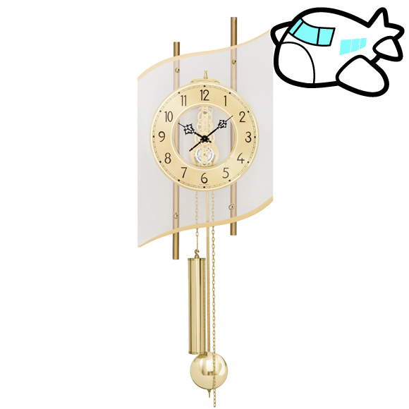 AMS ドイツ製 機械式スケルトン振り子時計 AMS307