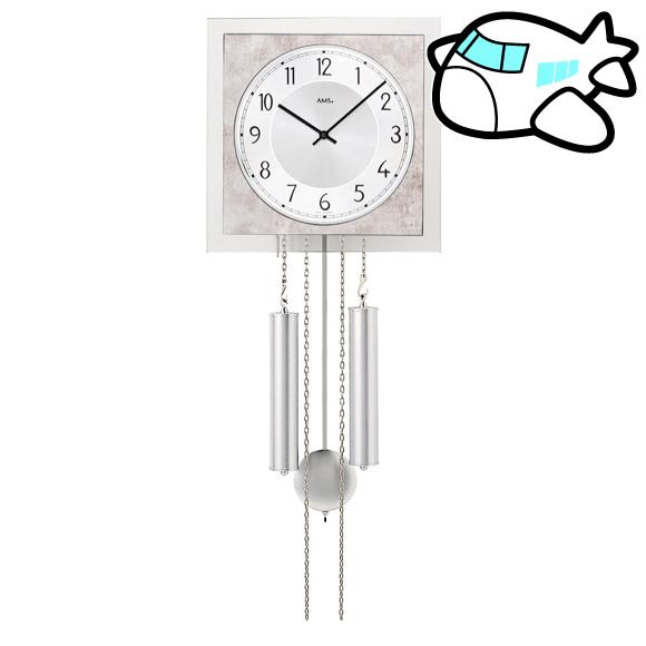 ドイツ AMS(アームス) 社製 モダン リビング 書斎 機械式振り子時計 AMS344 納期1ヶ月程度