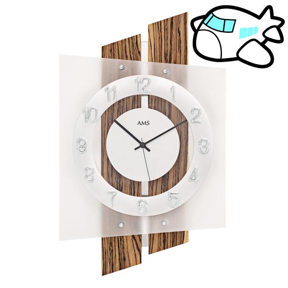 AMS ドイツ製 掛け時計 木製 リビング ギフ ト記念品 開院祝い 開業 オフィス ロビー AMS5531