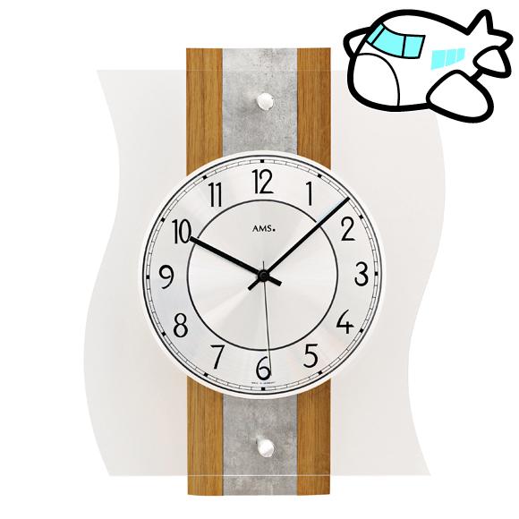 AMS ドイツ製 掛け時計 木製 リビング ギフ ト記念品 開院祝い 開業 オフィス ロビー AMS5537