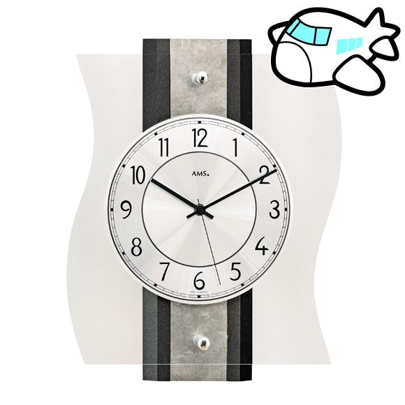 AMS ドイツ製 掛け時計 木製 リビング ギフ ト記念品 開院祝い 開業 オフィス ロビー AMS5538