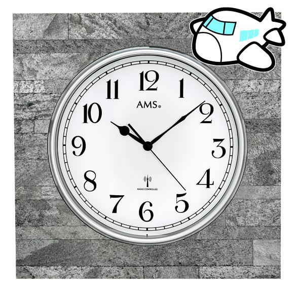 スクェアな四角形の石を基調にした大型掛け時計 ドイツ製 AMS 掛け時計 石 50cm 大型 NEW 納期1ヶ月程度 新作入荷!! 30%OFF 四角 YM-AMS5568 AMS5568