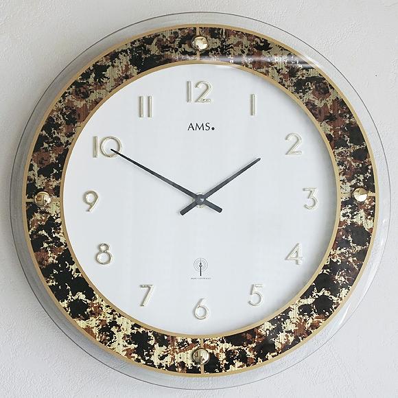 AMS ドイツ製 掛け時計 アナログ ゴールド 【期間限定30%OFF!】 国内在庫 即納 (YM-AMS5853J)