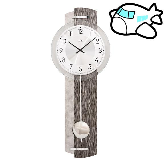 AMS ドイツ製 振り子時計 木製 モダン デザイン ユニーク リビング ギフ ト記念品 開院祝い 開業 オフィス ロビー AMS7463