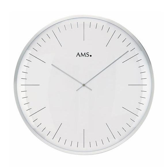AMS 掛け時計 アナログ ドイツ製 シルバー AMS9540 国内在庫 即納 (YM-AMS9540J)