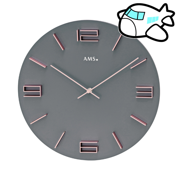 AMS ドイツ製 大型 掛け時計 リビング ギフ ト 記念品 開院祝い 開業 オフィス ロビー AMS9590