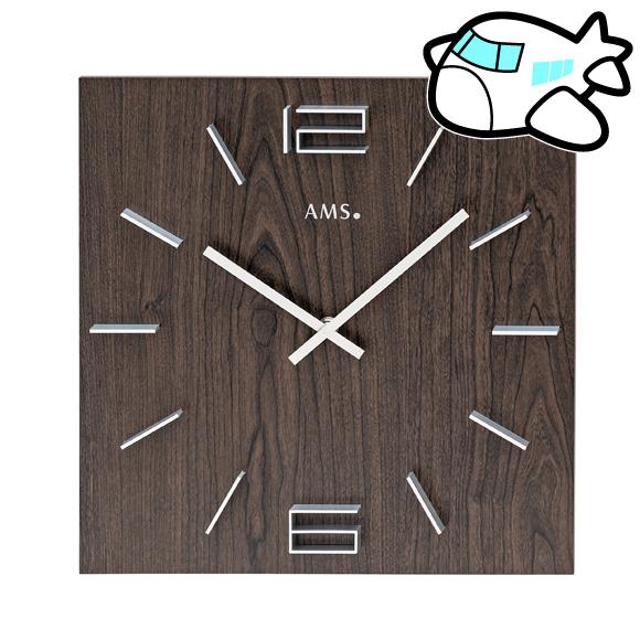 AMS ドイツ製 掛け時計 木製 リビング ギフ ト記念品 開院祝い 開業 オフィス ロビー AMS9593