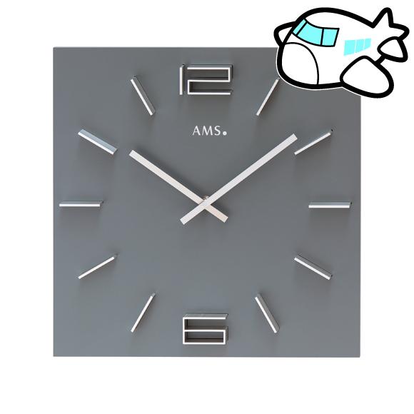 AMS ドイツ製 掛け時計 リビング ギフ ト記念品 開院祝い 開業 オフィス ロビー AMS9594