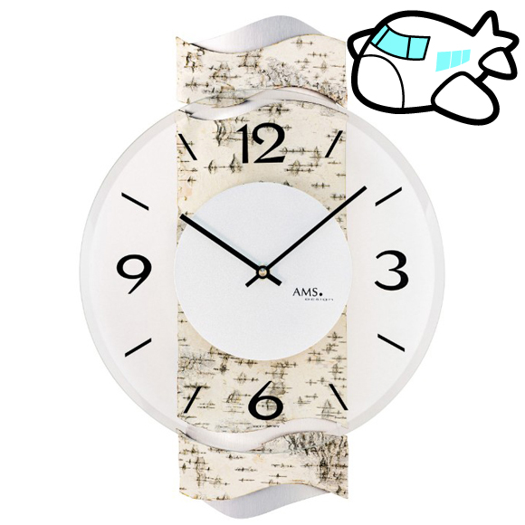 AMS 掛け時計 木調 ドイツ製 納期1ヶ月程度 (YM-AMS9624)