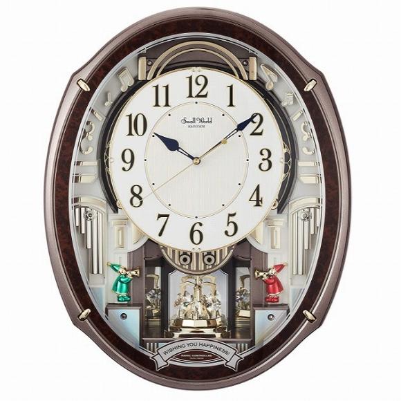 シチズン 未使用 CITIZEN 掛け時計 からくり時計 オーロラサウンドメロディ48曲収録 スワロフスキー スモールワールドアルディ 文字板飾り 予約販売品 Small World 回転飾り