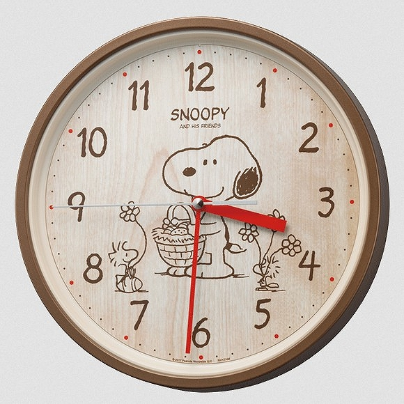 シチズン 安い 激安 プチプラ 高品質 CITIZEN 掛け時計 キャラクター時計 新作入荷 スヌーピーM40 掛時計 スヌーピー