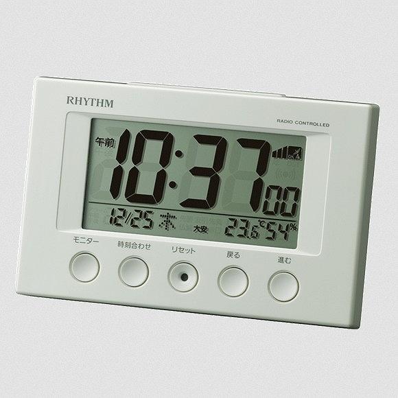 毎日激安特売で 営業中です シチズン 格安激安 CITIZEN 置き時計 電波デジタルめざまし時計 フィットウェーブスマート 電子音アラーム シンプル