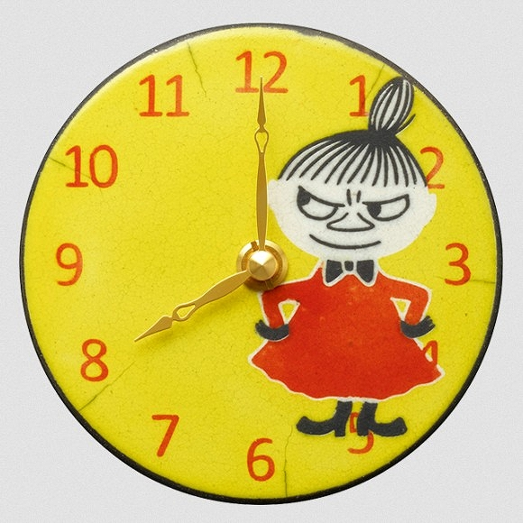 シチズン CITIZEN 掛け時計 店内全品対象 掛置兼用 陶器 作家アントニオ ムーミンシリーズ リトルミィ イタリア製陶器 Clock 誕生日/お祝い Pottery ザッカレラ氏