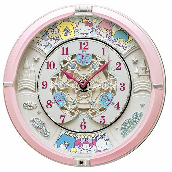 通販 激安◆ セイコー SEIKO からくり時計 キャラクター時計 サンリオ 価格 はぴだんぶい キティーちゃん リトルツインスターズ タキシードサム おしゃれ 壁掛け アナログ 音がしない 検 掛け時計 CQ222P ディズニー 掛時計