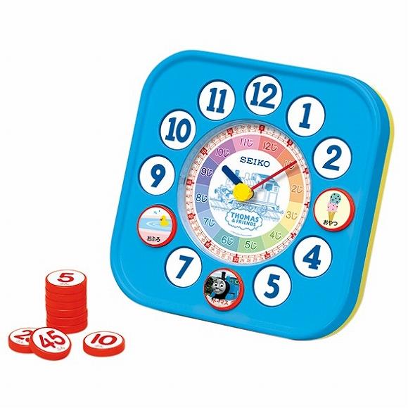 大幅にプライスダウン セイコー SEIKO 知育時計 通販 激安 キャラクター時計 きかんしゃトーマス 掛け時計 アナログ 掛置兼用 木製 掛時計 音がしない CQ223A 検 北欧 おしゃれ かけ時計