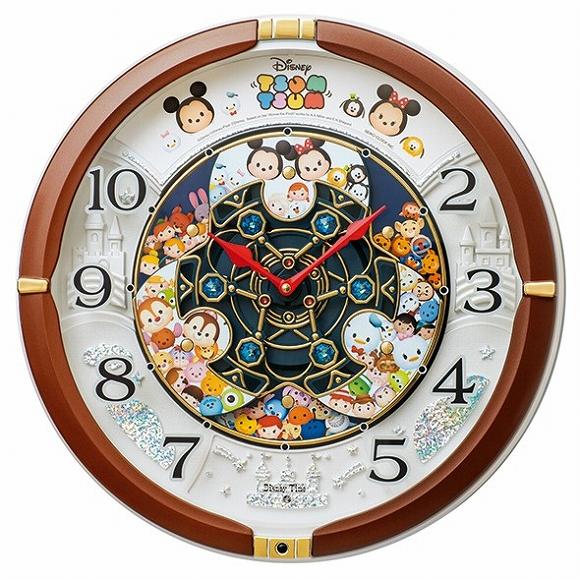セイコー SEIKO からくり時計 キャラクター時計 ディズニー ツムツム 超激安特価 アナログ FW588B おしゃれ 最新アイテム 壁掛け 検 音がしない 掛時計 掛け時計