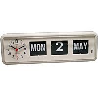置き時計 置時計 カレンダー 日付 パタパタ TWEMCO 掛け時計 「デスクトップ・マルチ時計」 (OPBQ-38white)【10P01Oct16】