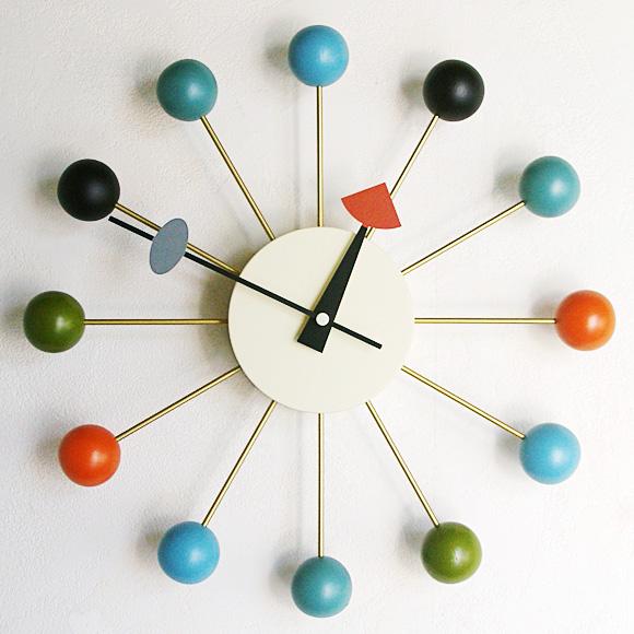掛け時計 大型 木製 ジョージネルソン アメリカ リビング 店舗 ロビー 開店 開業 ギフト 贈り物 贈答品 プレゼント ジョージ・ネルソン「ボールクロック」 (KC-GN397) 【10P01Oct16】