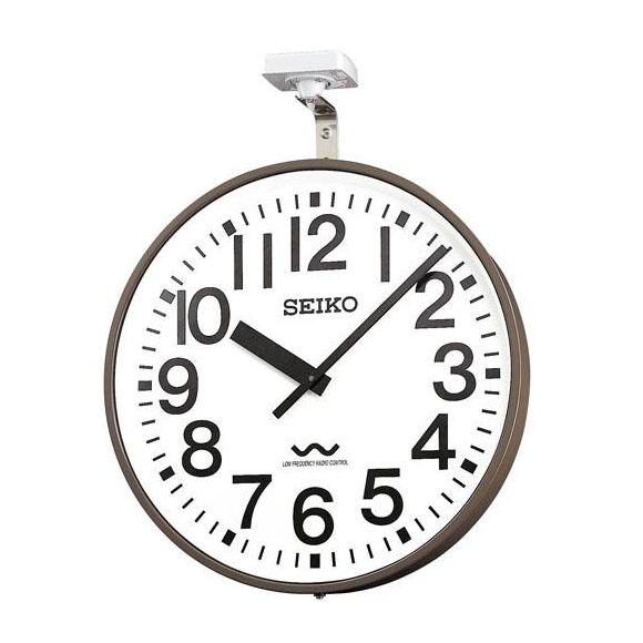 SEIKO セイコー 壁掛型 電波時計・交流電流式 屋外用 (ALC-703) (検) 時計 掛け時計 掛時計 かけ時計 木製
