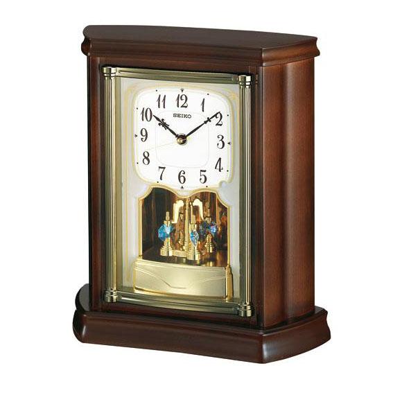 Exceptional SEIKO (Seiko) Table Clock Wooden Frame