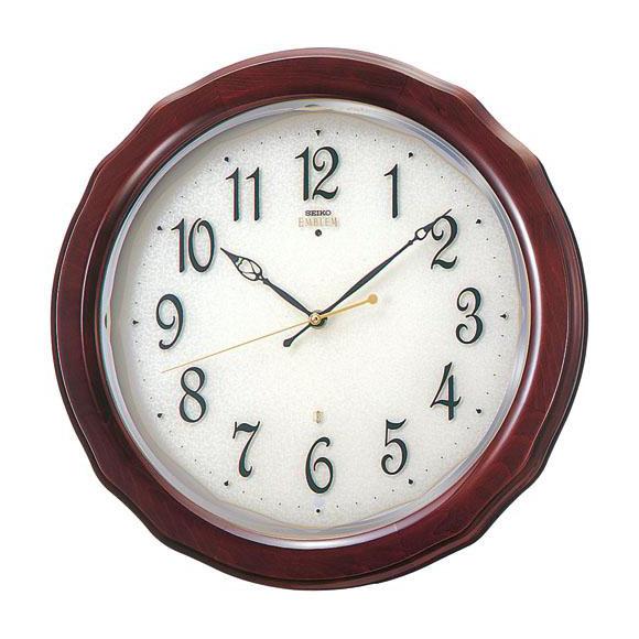 【送料無料】 SEIKO セイコー EMBLEM 掛け時計 (HS521B) (検) 時計 掛け時計 掛時計 かけ時計 木製