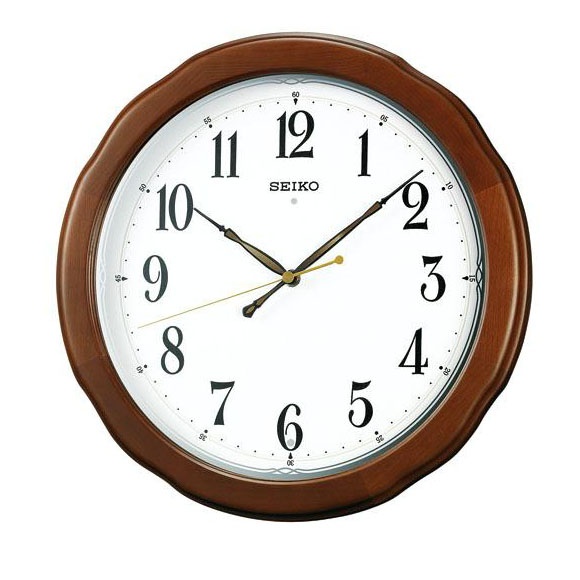 SEIKO セイコー 掛け時計 スイープ 電波 時計 (KX326B) (検) 時計 掛け時計 掛時計 かけ時計 木製