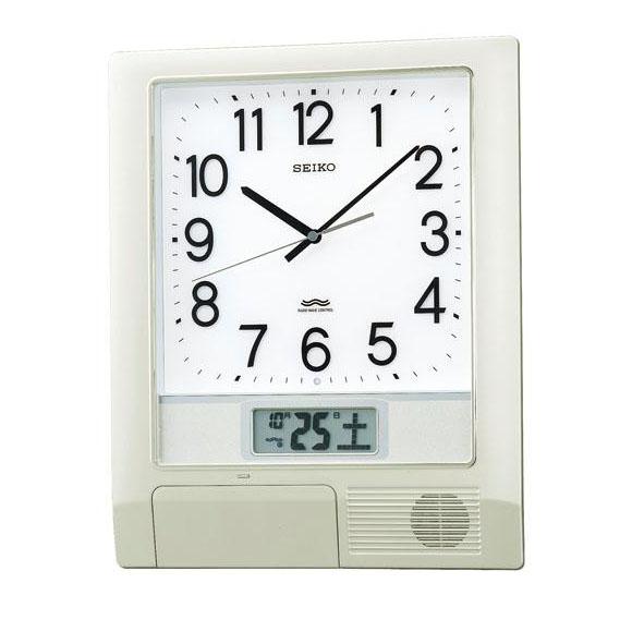 SEIKO セイコー 掛け時計 オフィスタイプ プログラムクロック 電波 時計 (PT201S)  (検) 時計 掛け時計 掛時計 かけ時計 木製