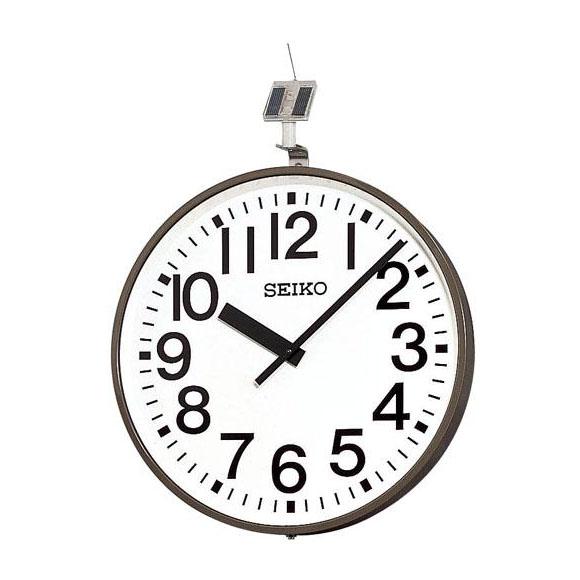 SEIKO セイコー 壁掛型 クォーツ時計・ソーラー式 屋外用 (QFC-703) (検) 時計 掛け時計 掛時計 かけ時計 木製