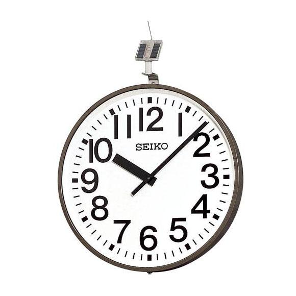 SEIKO セイコー 壁掛型 電波時計・ソーラー式 屋外用 (QFC-703R) (検) 時計 掛け時計 掛時計 かけ時計 木製