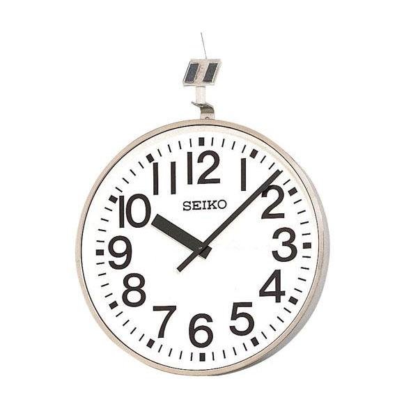 【ポイントアップ中&割引クーポン配布中】 【 送料無料 】 SEIKO セイコー 壁掛型 電波時計・ソーラー式 屋外用 (QFC-707R) (検) 時計 掛け時計 掛時計 かけ時計 木製