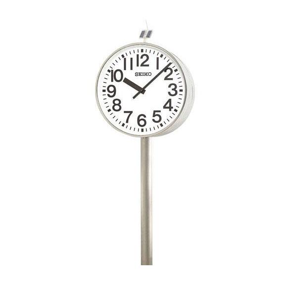 【ポイントアップ中&割引クーポン配布中】 【 送料無料 】 SEIKO セイコー 両面ポール型 電波時計・ソーラー式 屋外用 (QFC-787) (検) 時計 振り子時計 ふりこ時計 掛け時計 掛時計 振り子 ふりこ 時計 木製 おしゃれ