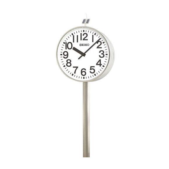 【ポイントアップ中&割引クーポン配布中】 【 送料無料 】 SEIKO セイコー 両面ポール型 電波時計・ソーラー式 屋外用 (QFC-787R) (検) 時計 振り子時計 ふりこ時計 掛け時計 掛時計 振り子 ふりこ 時計