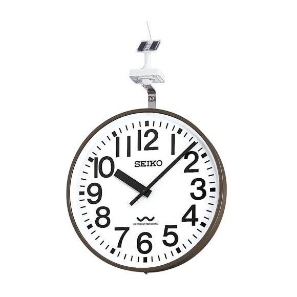 SEIKO セイコー 壁掛型 電波時計・ソーラー式 屋外用 (QLC-703) (検) 時計 掛け時計 掛時計 かけ時計 木製